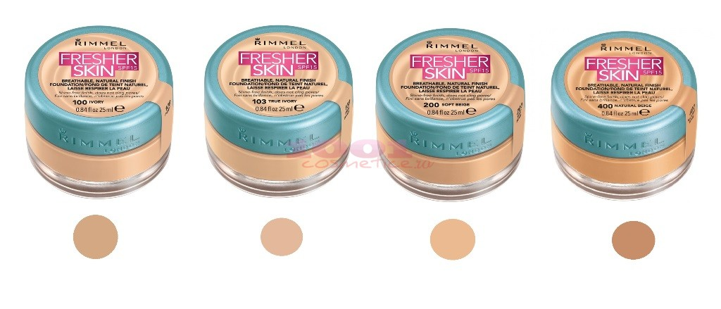 RIMMEL LONDON FRESHER SKIN FOND DE TEN