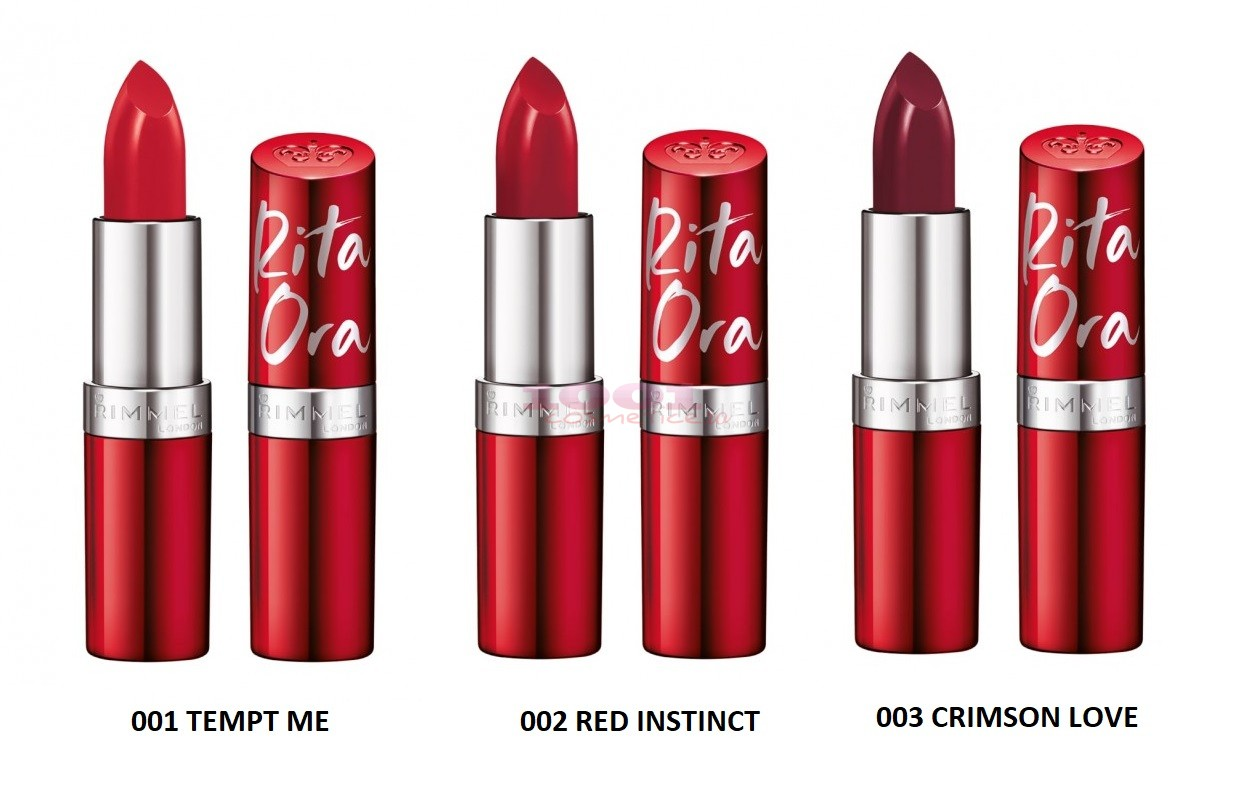 RIMMEL LONDON LASTING FINISH RED INSTINCT BY RITA ORA RUJ DE BUZE