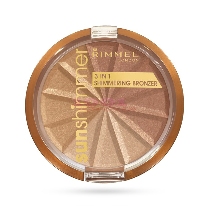 Rimmel London Sun Shimmer 3in1 Bronzer Pudra Bronzanta Gold Princess 001