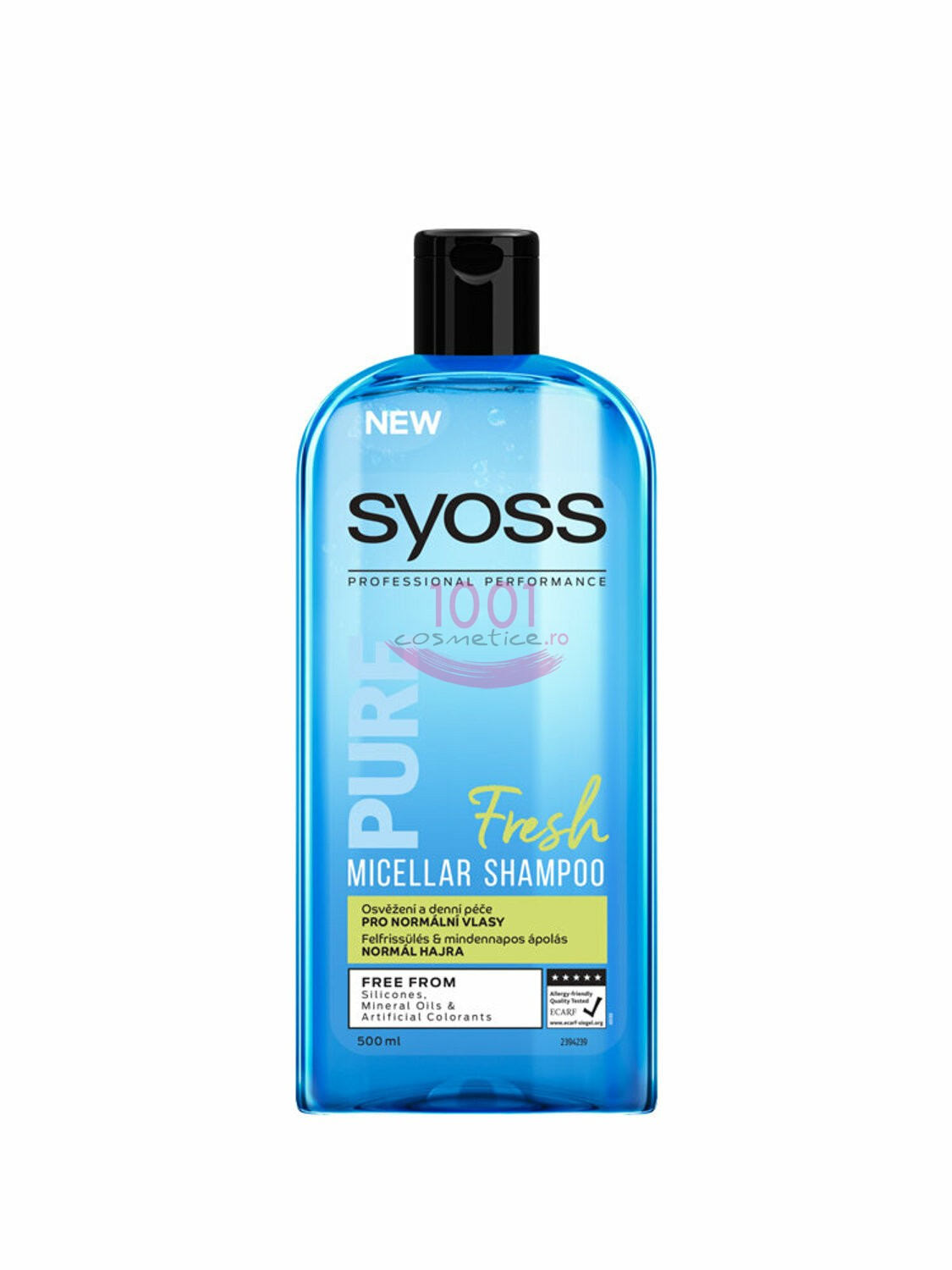 SYOSS PURE FRESH MICELLAR SHAMPOO SAMPON PENTRU PAR NORMAL