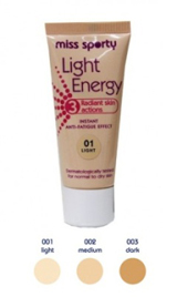 FOND DE TEN LIGHT ENERGY by Miss Sporty