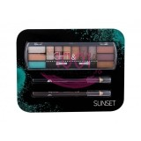 2K NIGHT & DAY PALETA EYESHADOW + 2x CREION DERMATOGRAF BLACK + BROWN SET SUNSET
