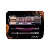 2K NIGHT & DAY PALETA EYESHADOW + 2x CREION DERMATOGRAF BLACK + BROWN SET DAYLIGHT