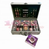 2K SILVER BEAUTY TRAIN CASE TWO TRUSA MAKEUP