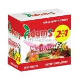 ADAMS SUPPLEMENTS MULTIVITA + FE  PACHET 1+ 1 GRATIS 2 X 30 TABLETE