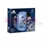 adidas UEFA CHAMPION EDITION AFTER SHAVE 50 ML + DEO BODY SPRAY 150 ML + GEL DE DUS 250 ML SET