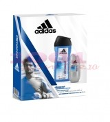 adidas CLIMACOOL MEN ANTI-PERSPIRANT ROLL ON 50 ML  + BODY HAIR FACE 3IN1 250 ML SET