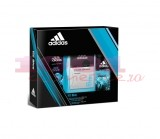 adidas ICE DIVE AFTER SHAVE 50 ML + DEO BODY SPRAY 150 ML + GEL DE DUS 250 ML SET