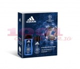 adidas UEFA CHAMPIONS EDITION DEODORANT BODY SPRAY 150 ML + GEL DE DUS 250 ML SET