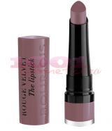 BURJOIS VELVET ROUGE THE LIPSTICK RUJ DE BUZE 17 FROM PARIS WITH MAUVE
