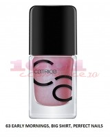 CATRICE ICONAILS GEL LACQUER LAC DE UNGHII 63 EARLY MORNINGS BIG SHIRT PERFECT NAILS