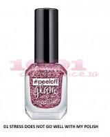 CATRICE PEELOFF GLAM EASY TO REMOVE EFFECT LAC DE UNGHII 01 STRESS DOES NOT GO WELL WITH MY POLISH
