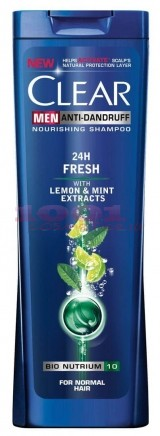 CLEAR MEN 24H FRESH SAMPON WITH LEMON & MINT EXTRACTS