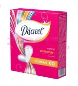 DISCREET NO PERFUME NORMAL ABSORBANTE ZILNICE ECONOMY 60 BUCATI