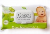 DOCTOR WIPES NATURAL SERVETELE UMEDE COPII 72 BUC. CAPAC