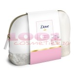 DOVE HAPPINESS COLLECTION GEL DE DUS 250 ML + BODY LOTION 250 ML + POWDER SOFT ANTIPERSPIRANT DEO + GEANTA DE COSMETICE SET