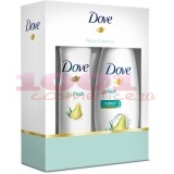 DOVE PEACE COLLECTION GO FRESH PEAR GEL DE DUS 250 ML + GO FRESH PEAR ANTIPERSPIRANT DEO 150 ML SET