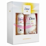 DOVE PERFECT PAMPERING COLLECTION SILK GLOW GEL DE DUS 250 ML + INVISIBLE DRY ANTIPERSPIRANT DEO 150 ML SET
