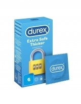 DUREX EXTRA SAFE THICKER PREZERVATIVE SET 6 BUCATI