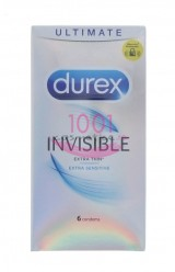 DUREX INVISIBLE EXTRA THIN EXTRA SENSITIVE PREZERVATIVE 6 BUCATI