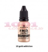 ESSENCE INSTA PERFECT LIQUID HIGHLIGHTER ILUMINATOR LICHID GOLD ADDICTION 10