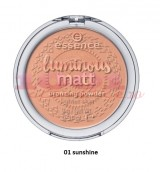 ESSENCE LUMINOUS MATT BRONZING PUDRA BRONZANTA SUNSHINE 01