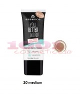 ESSENCE YOU BETTER WORK GYM PROOF TINTED DAY CREAM CREMA COLORATA MEDIUM 20