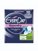 EVERYDAY ABSORBANTE HYPERDRY SUPER ULTRA PLUS 10 BUCATI