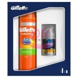 GILLETTE FUSION 5 ULTRA SENSITIVE GEL DE RAS 200 ML + AFTER SHAVE 3IN1 BALSAM 50 ML SET