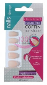 INVOGUE COFFIN PINK UNGHII FALSE 24 BUCATI + LIPICI SET