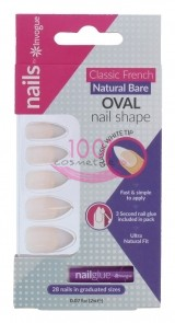 INVOGUE OVAL BARE UNGHII FALSE 24 BUCATI + LIPICI SET