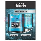 LOREAL COOL POWER SHOWER BODY / FACE / HAIR 300 ML + DEODORANT ANTIPERSPIRANT 150 ML SET