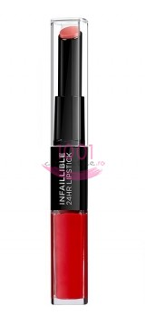LOREAL INFAILLIBLE 2 STEP 24H RUJ ULTRAREZISTENT 506 RED INFAILLIBLE