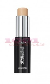 LOREAL INFAILLIBLE SHAPING HIGHLIGHTER ILUMINATOR STICK GOLD IS COLD 502
