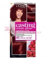 LOREAL PARIS CASTING CREME GLOSS VOPSEA 460 CHERRY RED