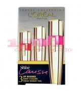 LOREAL PARIS SHINE CARESSE LIPGLOS NUANTELE 300 + 102 + 400 SET