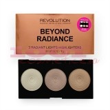 MAKEUP REVOLUTION BEYOND RADIANCE 3 RADIANT HIGHLIGHTERS PALETA ILUMINATOARE