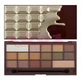 MAKEUP REVOLUTION CHOCOLATE GOLDEN BAR EYESHADOW PALETA DE FARDURI
