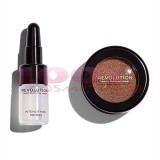 MAKEUP REVOLUTION FLAWLESS FOILS METALLIC EYESHADOW + PRIMER CONFLICT