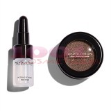 MAKEUP REVOLUTION FLAWLESS FOILS METALLIC EYESHADOW + PRIMER OVERCOME