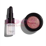 MAKEUP REVOLUTION FLAWLESS FOILS METALLIC EYESHADOW + PRIMER ROSE GOLD