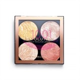 MAKEUP REVOLUTION HIGHLIGHTER AND BRONZER CHEEK KIT MAKE IT COUNT