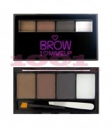 MAKEUP REVOLUTION I LOVE BROWS BOLD IS BEST KIT PENTRU SPRANCENE