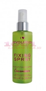MAKEUP REVOLUTION I LOVE REVOLUTION FIXING SPRAY CUCUMBER SPRAY PENTRU FIXAREA MACHIAJULUI