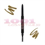 MAKEUP REVOLUTION LONDON DUO BROW CREION RETRACTABIL + PERIE PENTRU SPRANCENE LIGHT BROWN