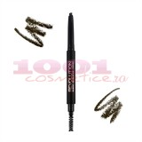 MAKEUP REVOLUTION LONDON DUO BROW CREION RETRACTABIL + PERIE PENTRU SPRANCENE DARK BROWN