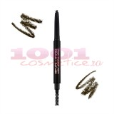 MAKEUP REVOLUTION LONDON DUO BROW CREION RETRACTABIL + PERIE PENTRU SPRANCENE MEDIUM BROWN