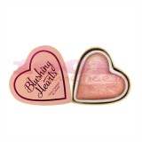 MAKEUP REVOLUTION LONDON HEARTS BLUSHER PEACHY PINK KISSES