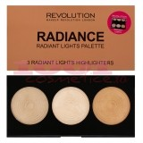 MAKEUP REVOLUTION LONDON HIGHLIGHTER PALETTE RADIANCE