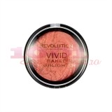 MAKEUP REVOLUTION LONDON VIVID BAKED HIGHLIGHTER ILUMINATOR ROSE GOLD LIGHTS